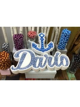Nombre de corcho para candy bar modelo ancla