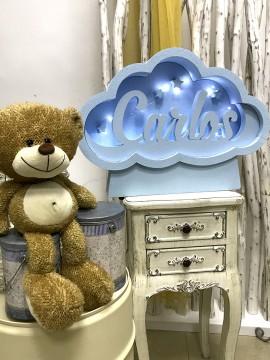 Caja de luz de corcho, personalizada, modelo nube