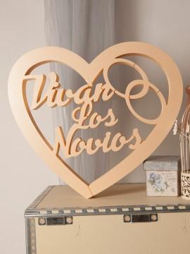 Vivan los novios corazon anillos